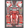 Yamaha PW Sticker Kit (Red)